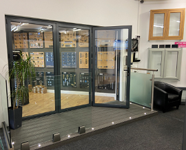 Shop bi-folds 02 at North Wales Doorworld